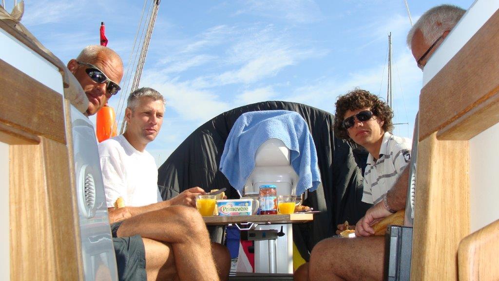 Chillen op de boot in Zeeland